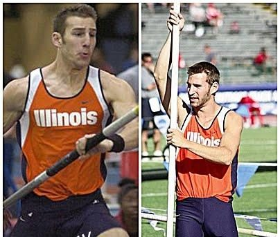 Pole Vaulter Andrew Zollner Shows Own Pole