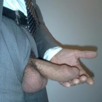 suit cock exposed