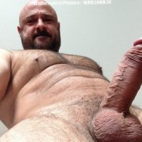 hairy mature man with erection
