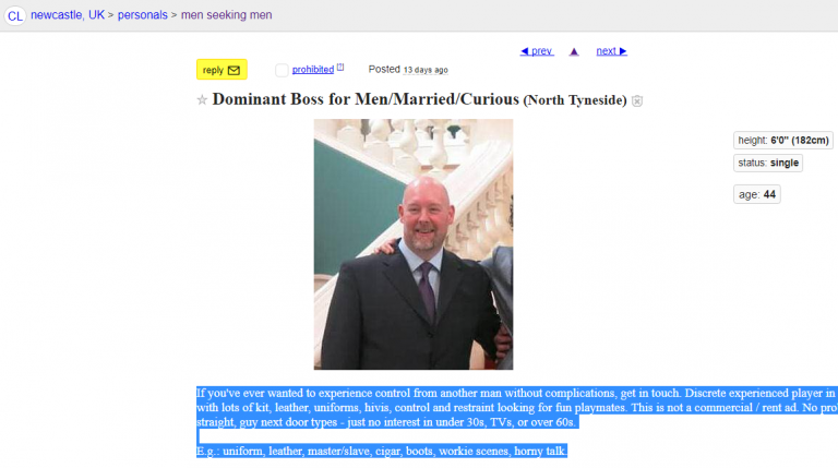 Dominant Boss for Men/Married/Curious North Tyneside