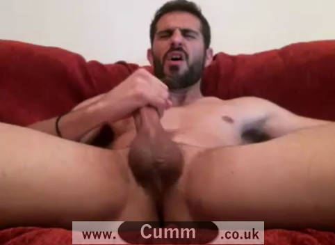 Xavier Caught Wanking His Big Spanish Cock Beauty