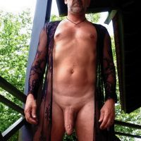 hung man nude in lace big cock