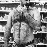 hairy bare chested bloke