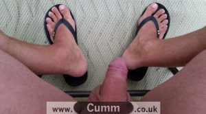 naked feet and cock