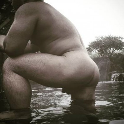 manly arse relaxed and already lubed by nature