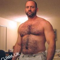 hairy chest dad semi nude