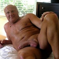 Naked Old Man Big Dick Erect
